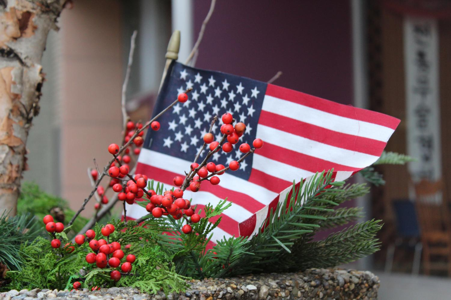 Businesses throughout downtown Vincennes have added colorful displays this holiday season.
