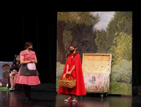 "A scene from the recent production of ""Little Red and the Hoods."""