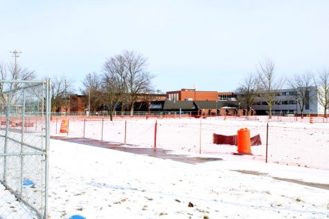 The demolition of Harrison Hall has left an open space on campus.
